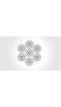 6x19 - Steel core, galvanized