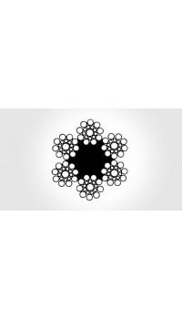 6x19 - fibre core, galvanized