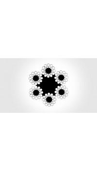6x24 - fibre core, galvanized