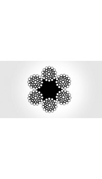 6x36 WS - fibre core, galvanized