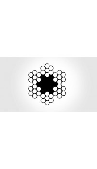 6x7 - fibre core, galvanized