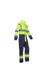 Hi-vis winter rain coverall