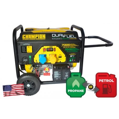 Champion 7000 watt Dual Fuel Generator with Electric Start