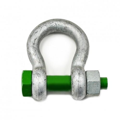 Green Safety Pin Bow Shackles