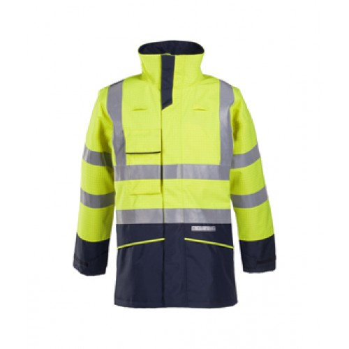 Flame Retardant Anti-Static Hi-Vis Rain Jacket