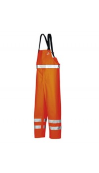 Hi-vis bib and brace trousers