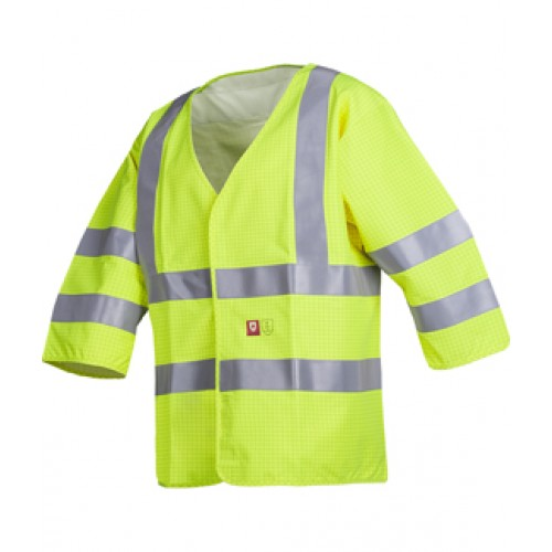 Flame retardant and anti-static hi-vis waistcoat
