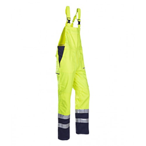 Hi-vis bib & brace Yellow and Navy