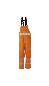 HI-VIS bib and braces trousers Orange