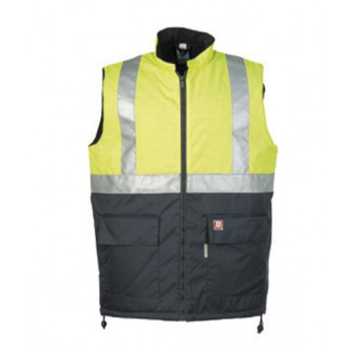 Flame retardant, antistatic hi-vis bodywarmer