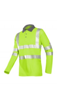 Flame retardant hi-vis polo shirt