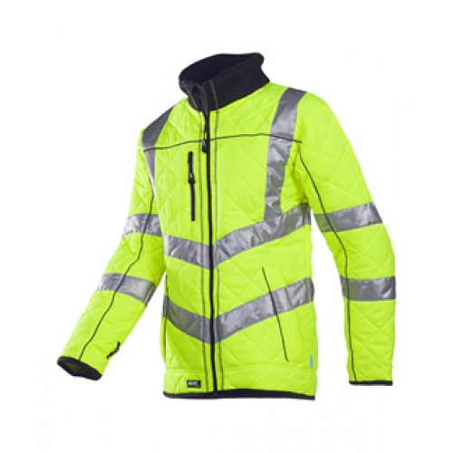 Hi-vis quilted jacket with fleece lining