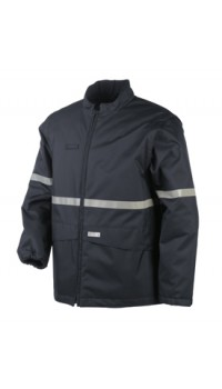 Flame Retardant Anti-Static Hi-Vis Bomber Jacket with Detachable Sleeves