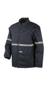 Flame Retardant Anti-Static Hi-Vis Bomber Jacket with Detachable Sleeves