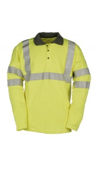 Flame Retardant Anti-Static Hi-Vis Polo Shirt