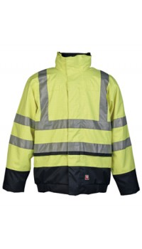 Flame Retardant Anti-Static Hi-Vis Rain Bomber Jacket