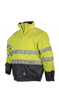 Flame retardant, antistatic hi-vis Bomberjacket