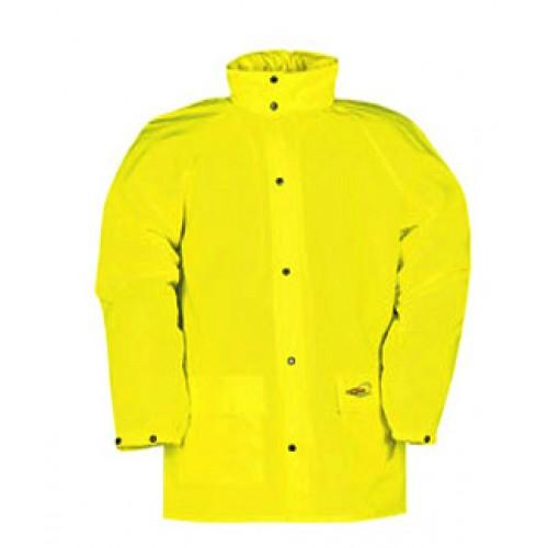 Hi-vis rain jacket Yellow