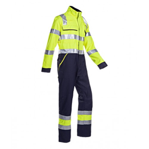 Hi-vis Coverall Yellow/Navy