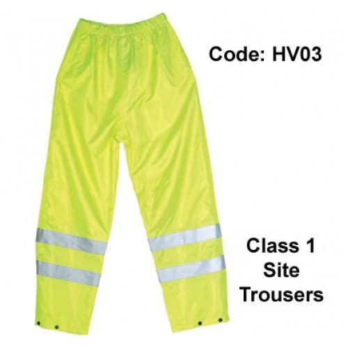 PROFORCE Hi Viz Site Trousers