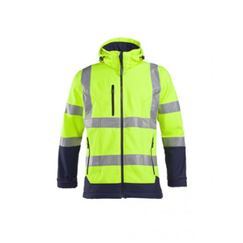 Laminated Hi-Vis Soft Shell Jacket