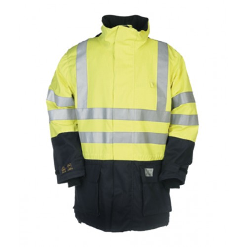 Hi-Vis Rain Jacket with ARC Protection