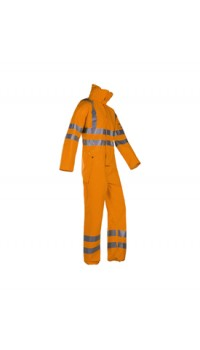 Flame Retardant Anti-Static Hi-Vis Rain Coverall