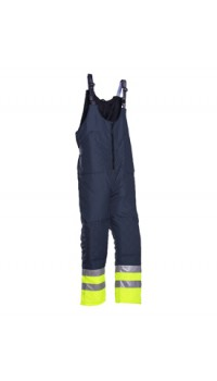 Hi-vis Cold Storage Bib and Brace Trousers