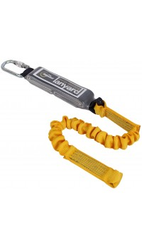 RGL6 (Single Leg Elasticated Webbing Lanyard & Shock Absorber)