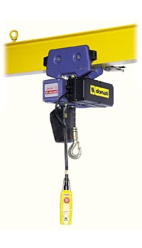 Electric chain hoist wita electric trolley - low headroom execut