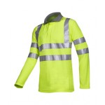 Flame retardant, anti-static hi-vis polo shirt