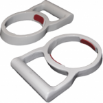 "GasGrab™ 4"" (100mm) PAIR - Gloss White"