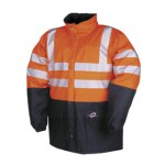 Hi-vis rainjacket Orange/Navy