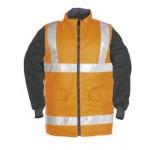Hi-vis bodywarmer with detachable sleeves