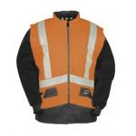 Hi-vis Bodywarmer with detachable sleeves Orange/Navy